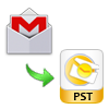 gmail mbox in pst